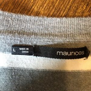 Maurices Sweaters - Gray and white stripped cardigan